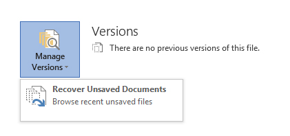 Recover Your Work in Office 2010