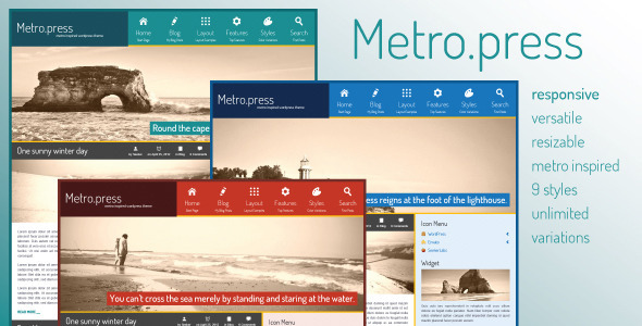 MetroPress - Expressive WordPress Theme