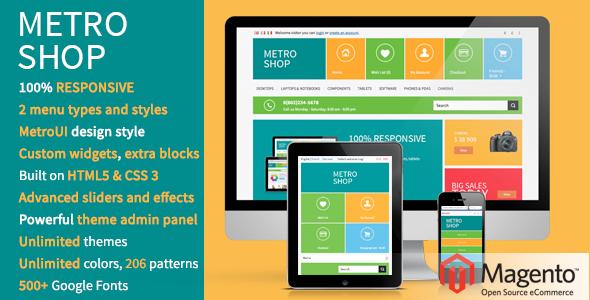 MetroShop – Premium Responsive Magento theme
